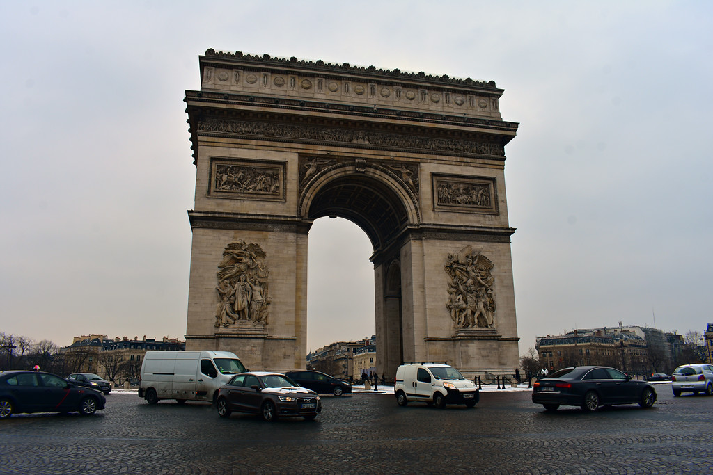 Arc du Triomphe in Paris, France