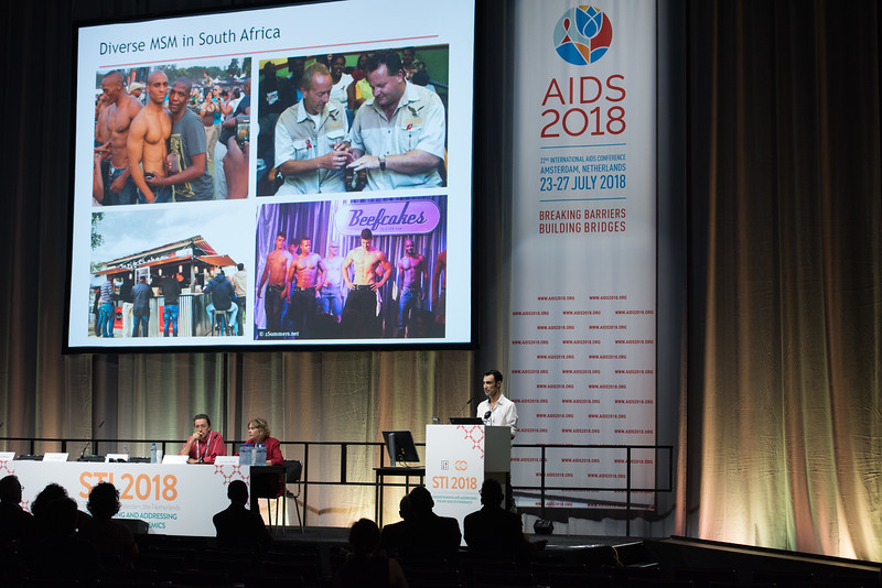 22nd International AIDS Conference (AIDS 2018) Amsterdam, Netherlands   Copyright: Marcus Rose/IAS  Photo shows: STI 2018. Speaker: Jonny Friedgood.'Community Voices' MSM.