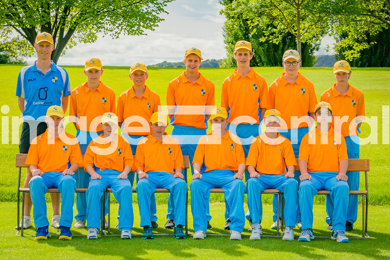 Otago Country Cricket U15 Rep Team at the U15 Boys District Tournament, 17 - 19 December 2018 at Molyneux Park in Alexandra, New Zealand.  18 December 2018. Copyright images Clare Toia-Bailey / image-central.co.nz