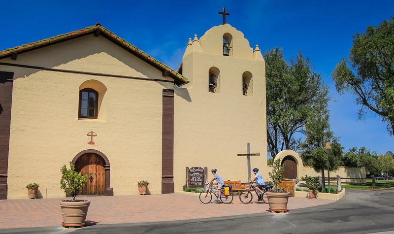 Arriving at Mission Santa Ines