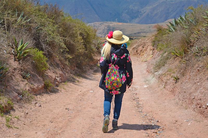 hiking through Chinchero