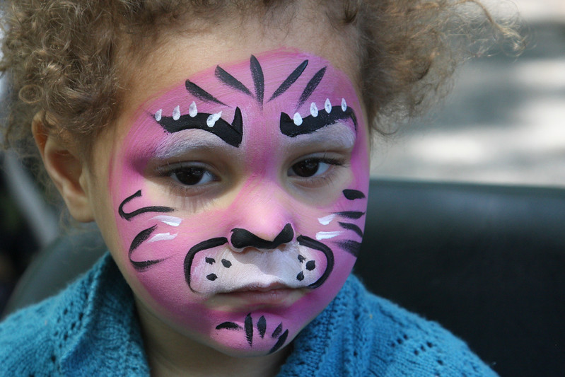 Fabulous face painters-- all local parents (let us know if you want to volunteer!)