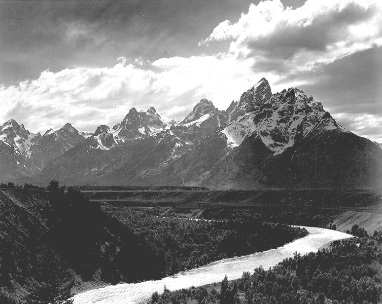 Famous Landscape Photographers - Ansel Adams Grand Teton