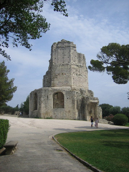 Roman tower at highest point in Nimes.