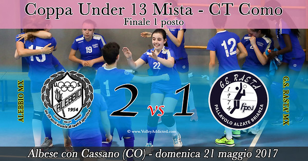 CO-Coppa u13 Mista - Finale 1 posto: Alebbio Mx - GS Rastà Mx