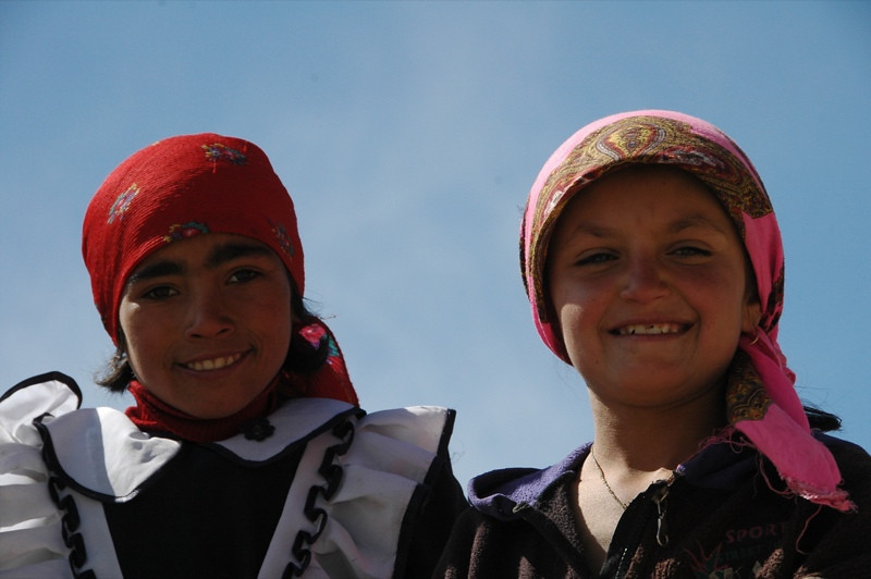 Pamiri Girls in Vrang - Pamir Mountains, Tajikistan