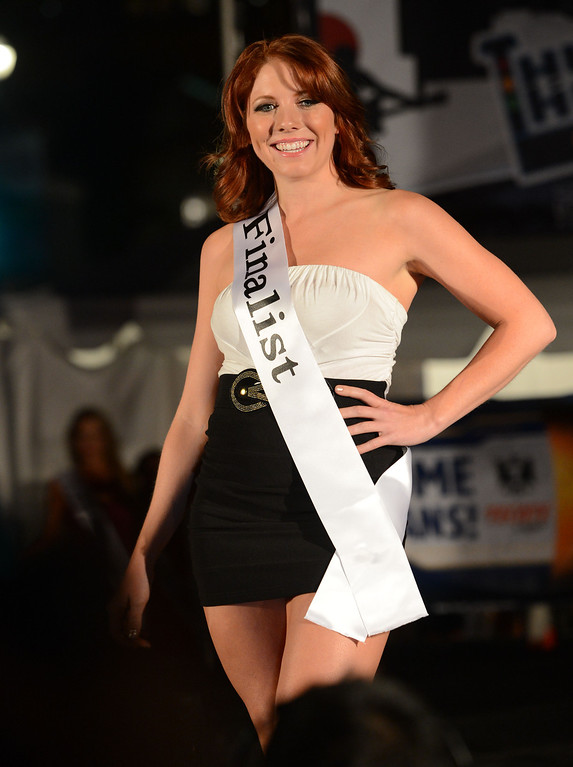 . Long Beach, Calif., -- 04-18-13-  Finalist Dava Betts During the 2013 Tecate Light Miss Toyota Grand Prix of Long Beach Thursday night on Pine Avenue at the Tecate Light Thunder Thursday on Pine.   Stephen Carr/  Los Angeles Newspaper Group
