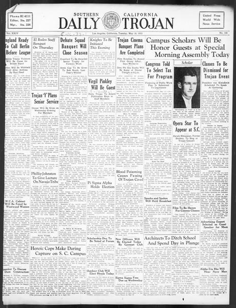 Daily Trojan, Vol. 24, No. 144, May 16, 1933