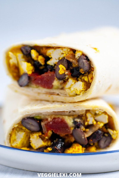 Vegan Mexican recipes - Easy Breakfast Burritos