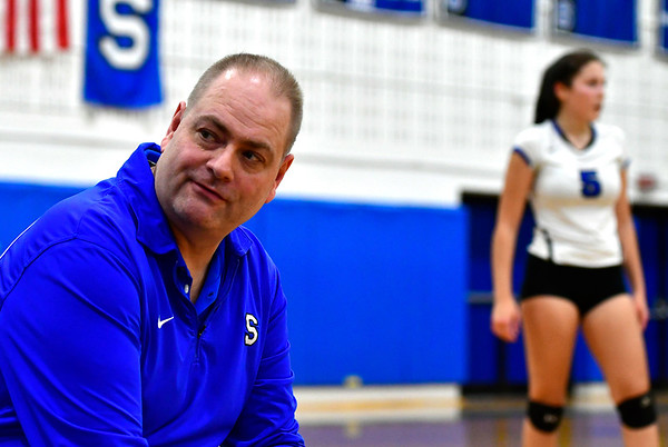 11/10/2018 Mike Orazzi   Staff Southington High School's Richard Heitz during the Class LL Quarterfinal Girls Volleyball Tournament in Southington Saturday.