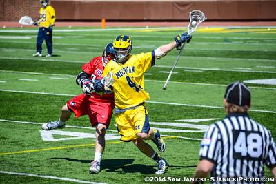 4-26-14 Michigan Men's Lacrosse Vs Robert Morris