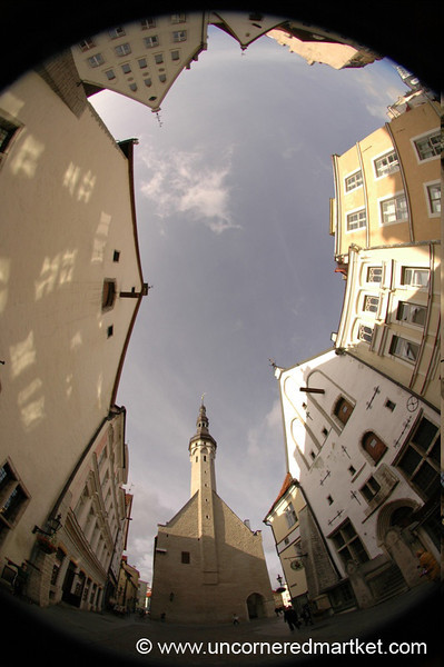 Tallinn's Old Town in Fisheye - Tallinn, Estonia
