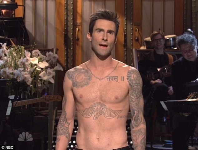 . Adam Levine started off hosting Saturday Night Live without a shirt.