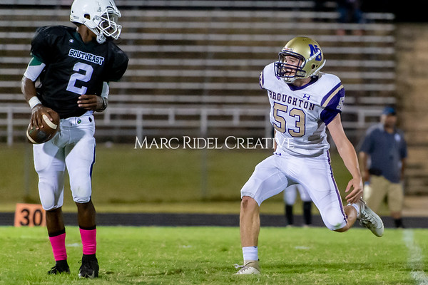 Broughton Varsity football at Southeast Raleigh. October 4, 2019. D4S_5192