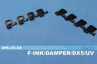 SKU: F-INK/DAMPER/DX5/UV, 8 Solvent and UV Resistant Black Ink Dampers for Φ4 Ink Pipe for EPSON DX5/XP600 Printhead