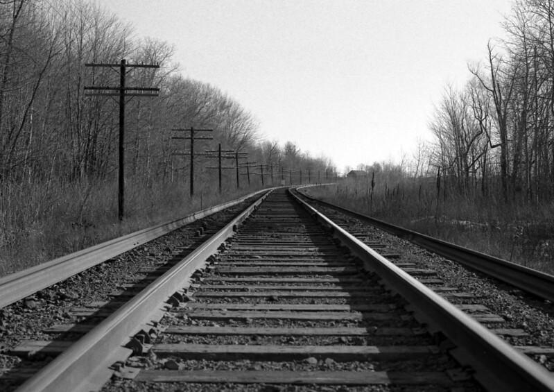 Railroad - North of Toronto, Ontario, Canada - Winter 1987