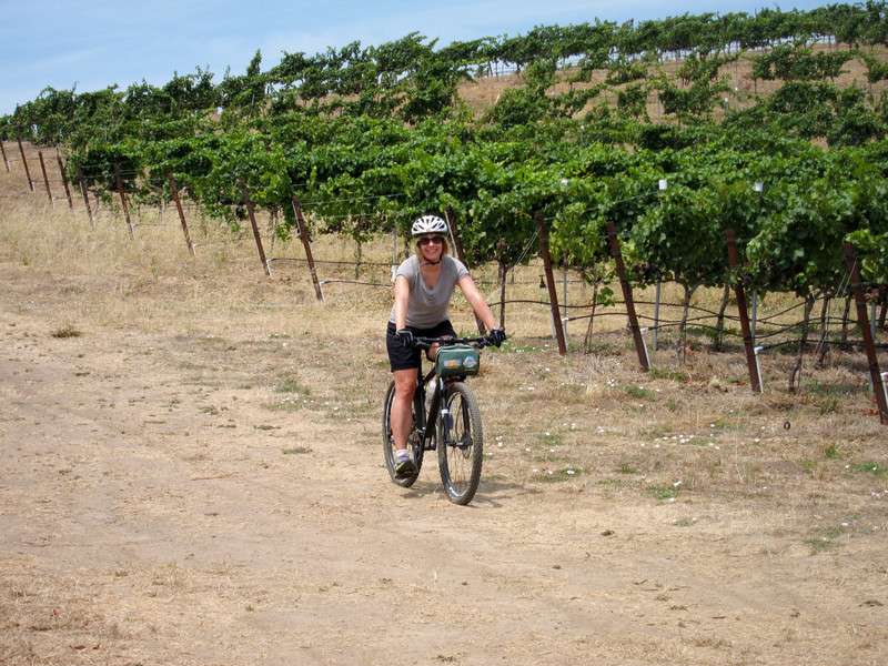 We did a 10 mile bike ride through Napa. We stopped at 3 wineries and got to ride through a vineyard owned by members of the DuPont family.