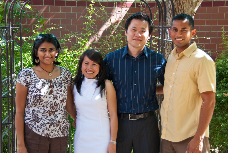 Bhumisha, Uyen, Jacky, and me