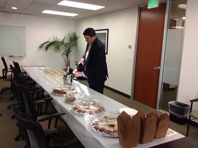 Champage Toast at Joe's Office
