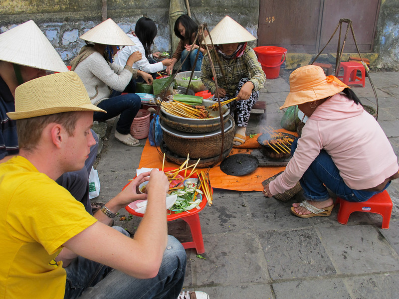 Lunch on the street in Hoi An.