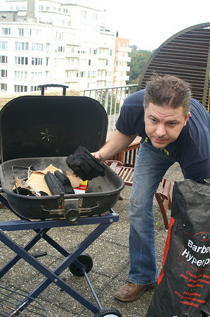 Brussels Car Free Sunday part two (the barbecue on the terrace)