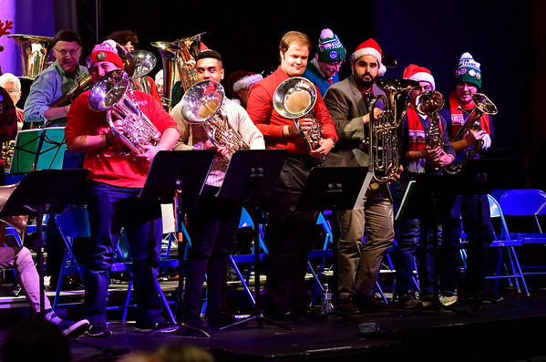 12/14/2019 Mike Orazzi | Staff The annual TubaChristmas concert held at Trinity-on-Main in downtown New Britain on Saturday.