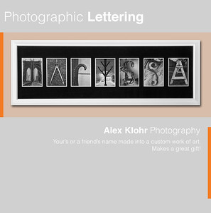 Photographic Lettering