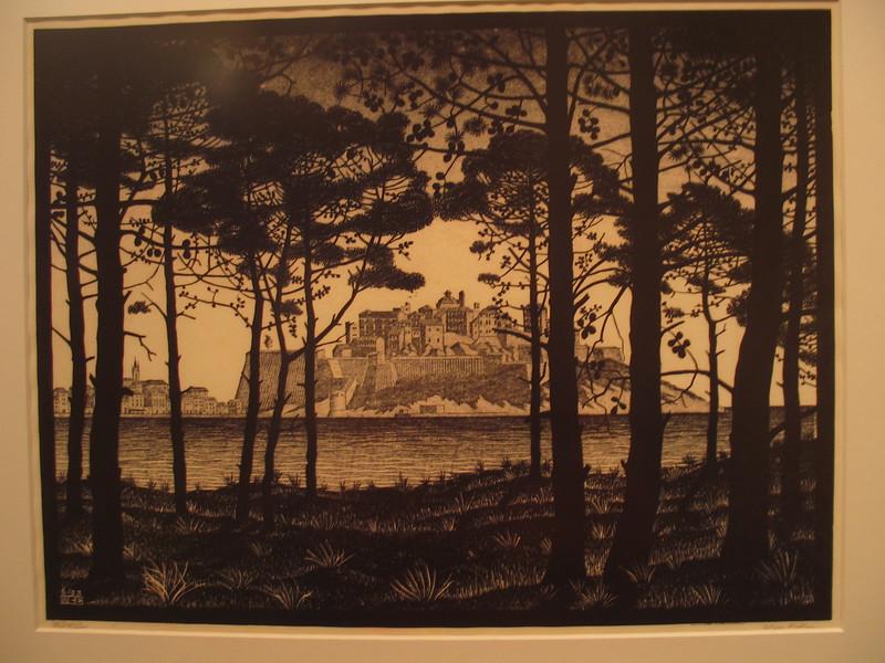 Pineta of Calvi, Corsica, 1933 (woodcut printed fr