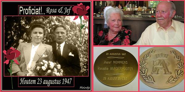 BRILLIANT '65 jaar getrouwd' 2012-08-23... (feest 1 sep.)...