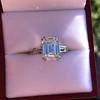 3.76ctw Emerald Cut Diamond Ring, by Leon Mege GIA H VS 7