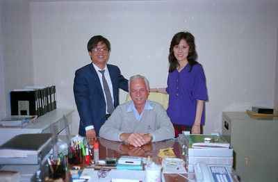 Henry Fan, Del and office gal.  Henry is the builder of the Panatronic AG Zurich line of computers.
