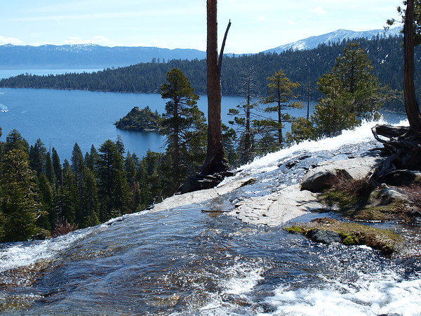 Falls overlooking Emerald bay, Lake Tahoe