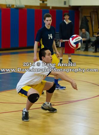 4/4/2014 - Boys Varsity Volleyball - Needham vs Brookline