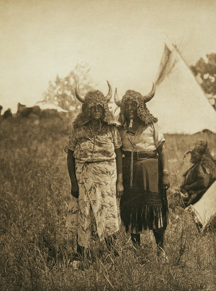 Buffalo dancers, animal dance - Cheyenne (The North American Indian, v. XIX. Norwood, MA, The Plimpton Press,  1930)