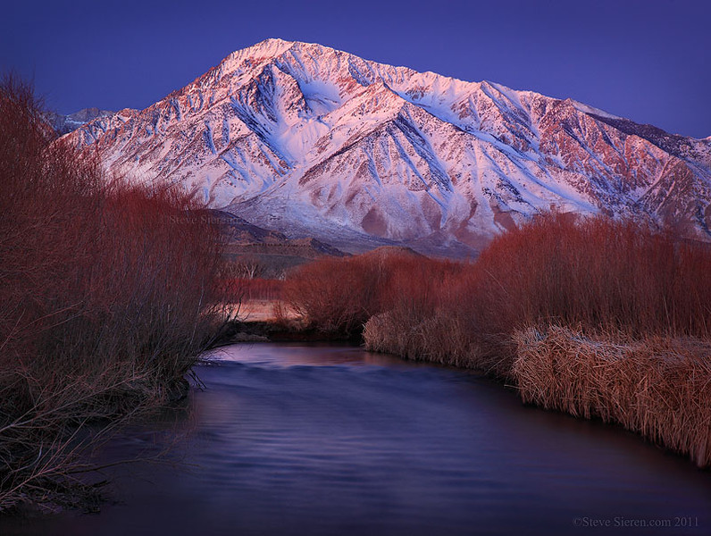 Mt. Tom and the Owens River in the Eastern Sierra