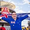 Aussie fan outside the stadium | 2015 Asian Cup Final Match | Australia vs South Korea | Stadium Australia | January 31, 2015 in Sydney, Australia