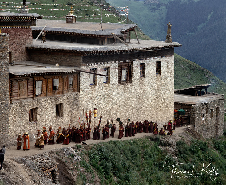Drigung Monastery. Tibet.
