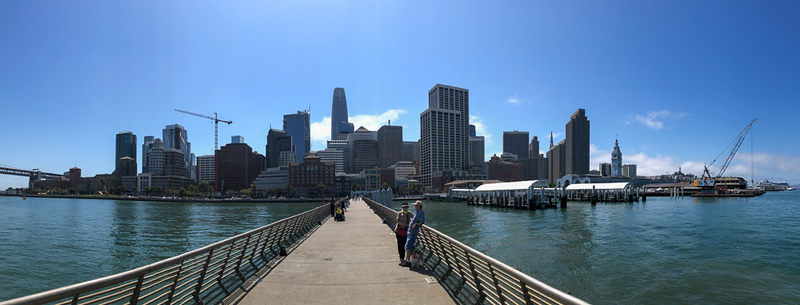 View of the city from Pier 14