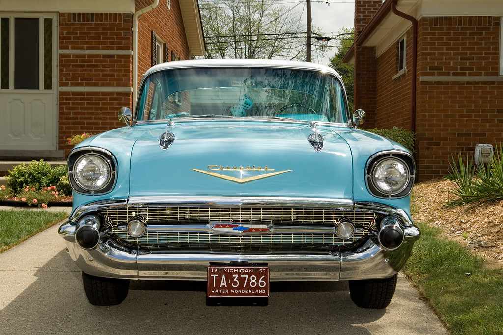 . Name: Mike Lerchenfeldt Cutline: It is my parents\', Jim and Sally Lerchenfeldt of Madison Heights, 1957 Chevy Bel Air.
