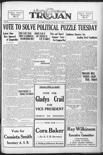 The Southern California Trojan, Vol. 12, No. 80, May 13, 1921