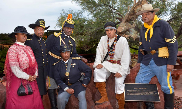 "July 4, 2015  Official Arizona Centennial Legacy ""Buffalo Soldiers of the Arizona Territory - Ladies and Gentlemen of the Regiment"", Headquarters Mesa, Arizona.  Ron Errera , Volunteer Photographer"