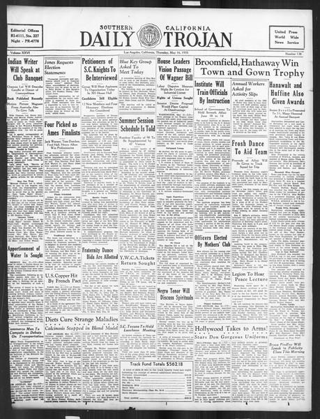 Daily Trojan, Vol. 26, No. 138, May 16, 1935