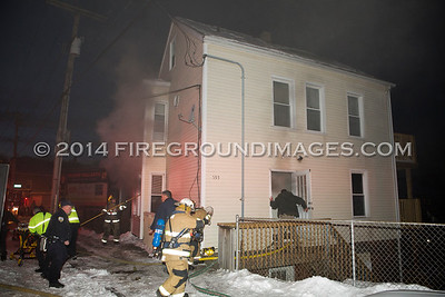 Howe Ave. Fire (Shelton, CT) 1/22/14