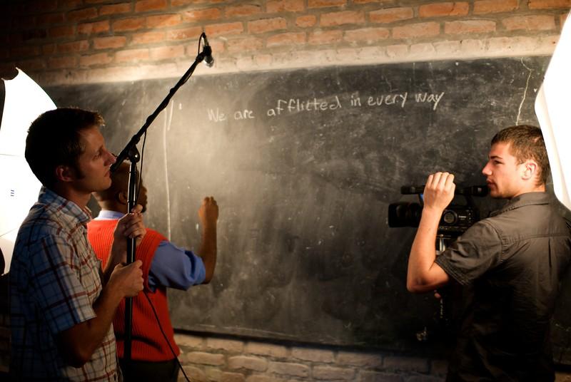 OFM team filming classroom scene  OFM team