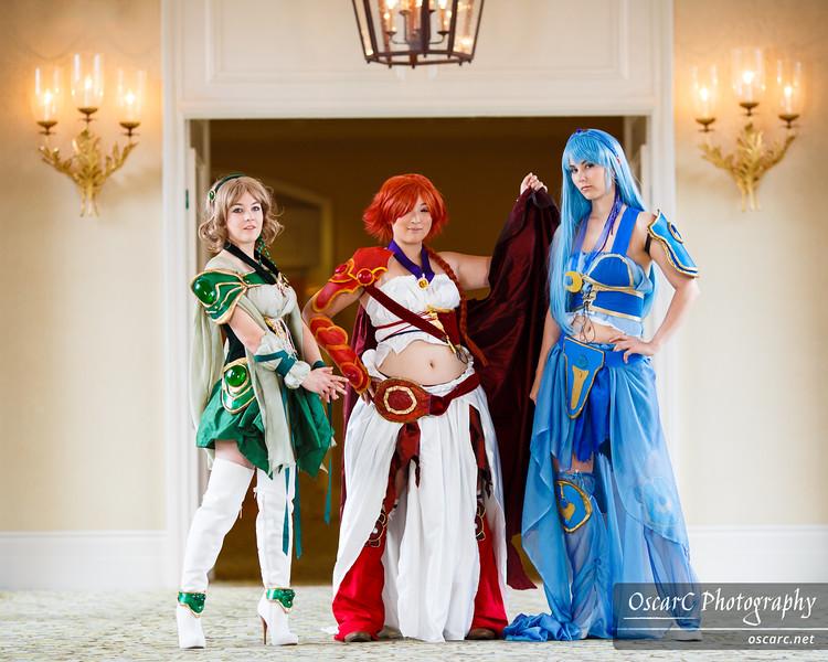 Fuu (Bekalou), Umi (Athena), Hikaru (Blueskadoo) from Magic Knight Rayearth