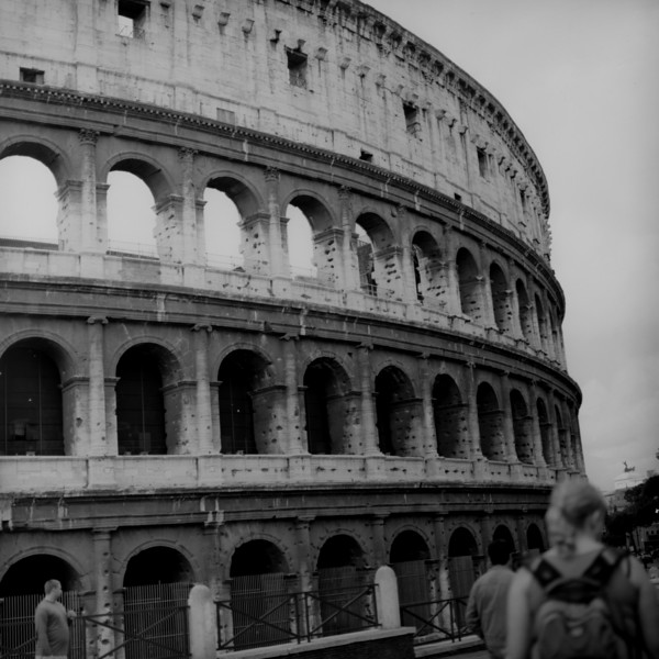 Colosseum in Rome 4:Italy beyond 70mm. Photographs taken on 80mm (Medium format film)