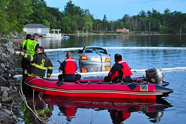 Car Into Canobie lake