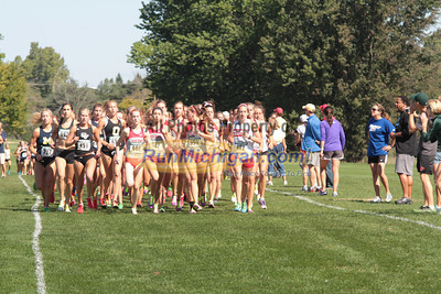 College Women 1 Mile Mark - 2012 Spartan Invitational