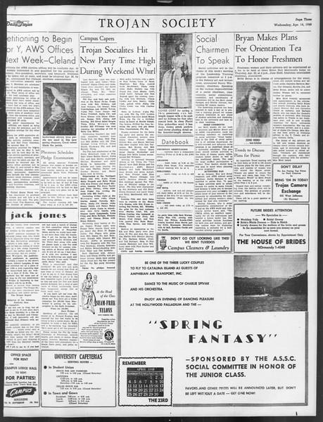 Daily Trojan, Vol. 39, No. 118, April 14, 1948