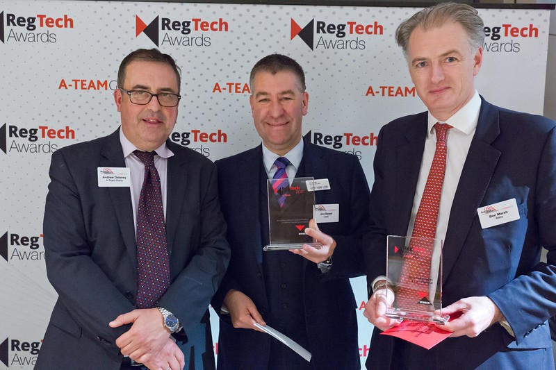 Andrew Delaney, Jon Sweet and Ben Marsh, RegTech Awards NYC 2017